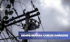 Se reparan cables de electricidad reventados por sobrecalentamiento en la 17 calle
