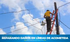 Reparación de Líneas de Acometida en 24 calle y 11 avenida